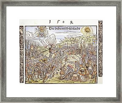 Maximilian I In Battle, 1504 Framed Print by Granger