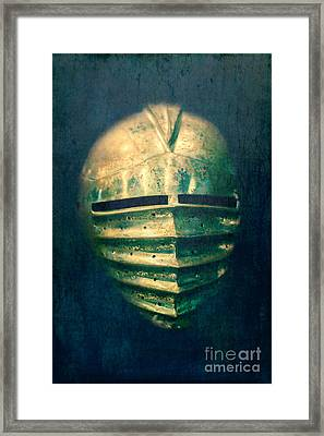 Maximilian Knights Armour Helmet Framed Print by Edward Fielding