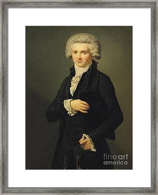 Maximilien De Robespierre Framed Print by Pierre Roch Vigneron