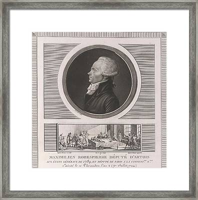 Maximilien Robespierre Framed Print by British Library