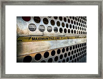 Maximum Fill Framed Print by Sennie Pierson