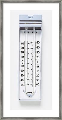 Maximum-minimum Thermometer Framed Print by Dorling Kindersley/uig