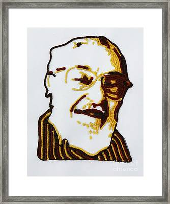 Max's Portrait Framed Print by PainterArtist FINs husband Maestro