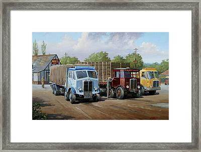 Max's Transport Cafe Framed Print by Mike  Jeffries