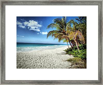 Framed Print featuring the photograph Maxwell Beach Barbados by Polly Peacock