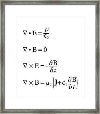 Maxwell's Equations Framed Print by Science Photo Library
