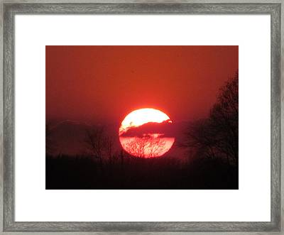 May 1 2013 Sunset Framed Print by Tina M Wenger