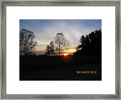 May 23 Sunset One Framed Print