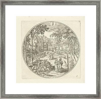 May, Adriaen Collaert, Hans Bol Framed Print by Adriaen Collaert And Hans Bol And Claes Jansz. Visscher (ii)