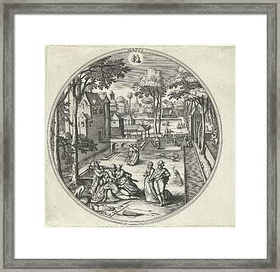 May, Adriaen Collaert, Hans Bol, Hans Van Luyck Framed Print by Adriaen Collaert And Hans Bol And Hans Van Luyck