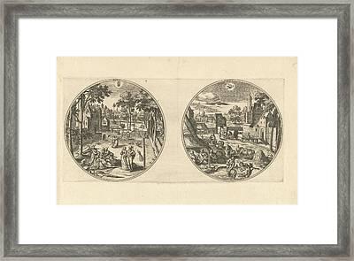May And June, Adriaen Collaert, Hans Bol Framed Print