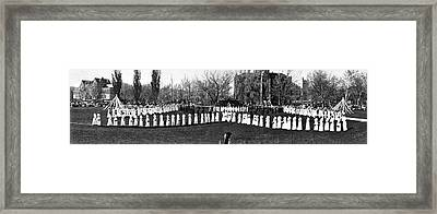 May Day Fete In Colorado Framed Print by Underwood Archives