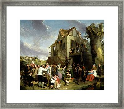 May Day, William Collins, 1788-1847 Framed Print by Litz Collection