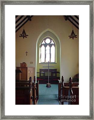 Framed Print featuring the photograph May Hill Church by John Williams