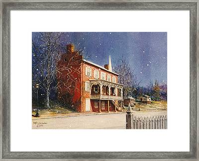 May House In Winter Framed Print