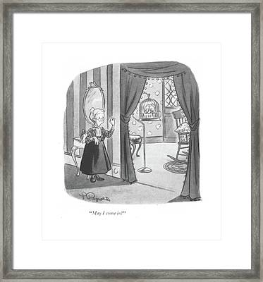 May I Come In? Framed Print by Lawrence Reynolds
