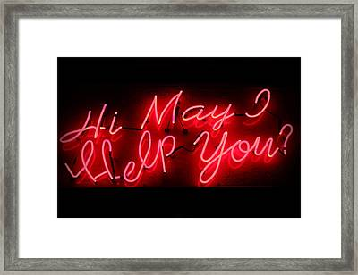 May I Help You Framed Print