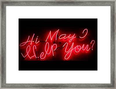 May I Help You Framed Print by Lynn Sprowl