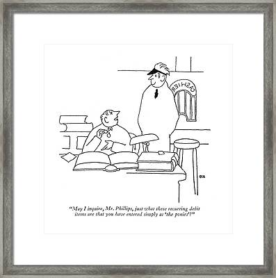 May I Inquire Framed Print by Gardner Rea