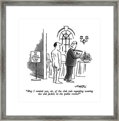 May I Remind Framed Print by Henry Marti