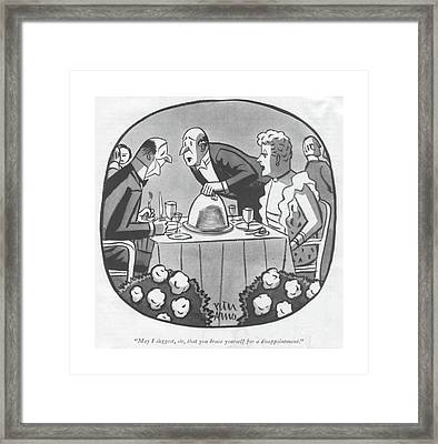 May I Suggest Framed Print by Peter Arno