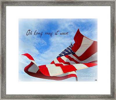 Framed Print featuring the photograph May It Wave by Heidi Manly