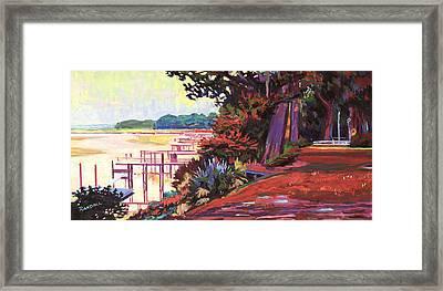 May River Docks Framed Print by David Randall