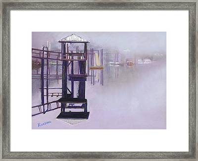 May River Fog Framed Print