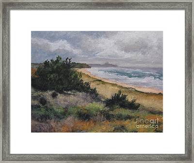 May Storm - Montauk Framed Print by Gregory Arnett