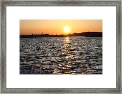 May Sunrise Over Oceanside Framed Print by John Telfer