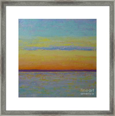 May Sunset Framed Print by Gail Kent