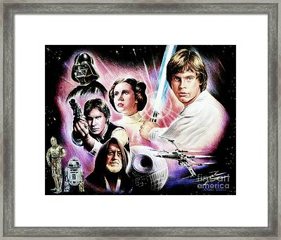 May The Force Be With You 2nd Version Framed Print by Andrew Read
