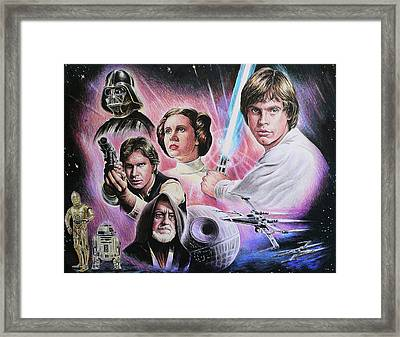 May The Force Be With You Framed Print