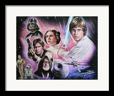 Celebrity Drawings Framed Prints