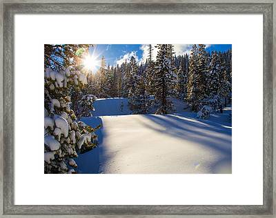 May The Long Time Sun Shine Upon You Framed Print
