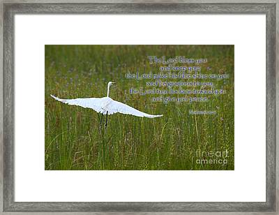 May The Lord Bless You Framed Print