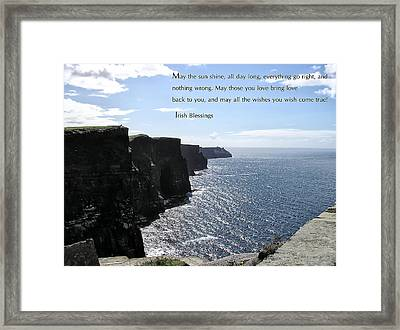 May The Sun Shine All Day Long Framed Print