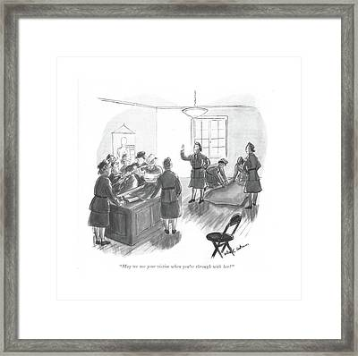May We Use Your Victim When You're Framed Print