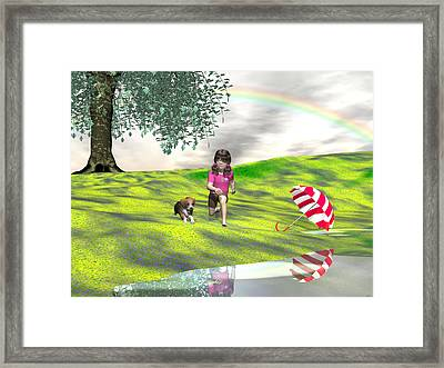 May You Jump In Puddles Framed Print by Michele Wilson