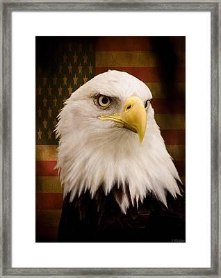 May Your Heart Soar Like An Eagle Framed Print by Jordan Blackstone