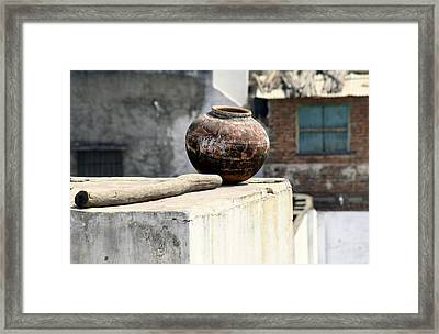 May Your Pots Be Filled With Cheer And Happiness Framed Print by A Rey