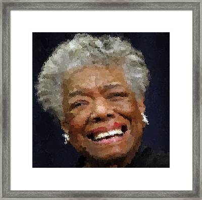 Maya Angelou Portrait Framed Print