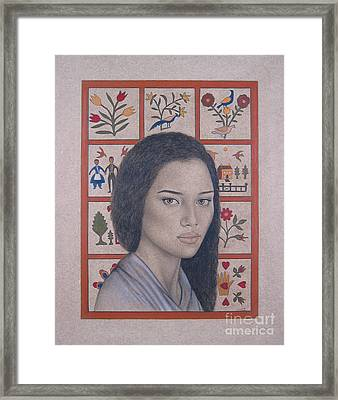 Maya Framed Print by Lynet McDonald