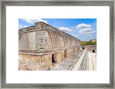 Mayan Architecture At Uxmal Framed Print