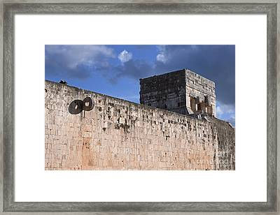 Mayan Ball Court Framed Print by Charline Xia