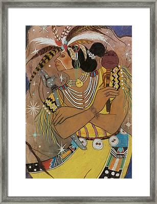 Mayan Ceremonial Dance Framed Print