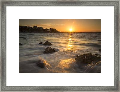 Mayan Coastal Sunrise Framed Print