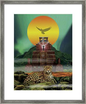 Mayan Jaguar Extinction Is Forever Framed Print by John Fronza