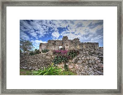 Framed Print featuring the photograph Mayan Ruin At Tulum by Jaki Miller