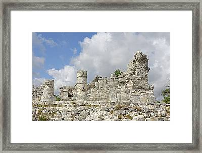Mayan Ruins Framed Print by Charline Xia